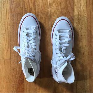 White Converse All Star High Tops ⭐️